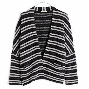 Madewell Striped Open Front Cardigan